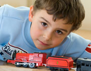 boy with train
